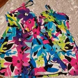 Flower bathing suit top